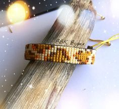 Bracelet Safaristyle en perles Miyuki. Beige, orange, marron, moutarde....