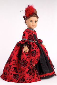 The Duchess Red and black gown with by DreamWorldCollection