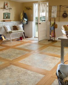 Mannington Adura Luxury Vinyl Tile Sicilian Stone. Available at L.J. Wagner Home Interiors.