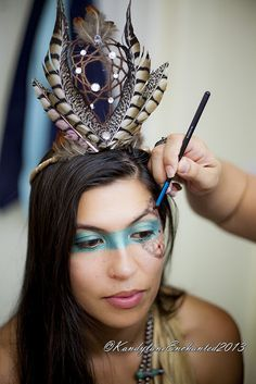 Top 20 Indian Halloween Makeup To Try This Year | Red indian, Noel ...