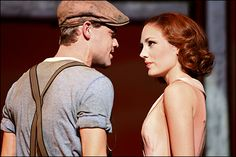 Jeremy Jordan and Laura Osnes in Bonnie & Clyde Photo by Nathan Johnson Playbill.com