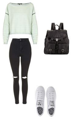 """Untitled #877"" by littlewonder2504 ❤ liked on Polyvore featuring moda, Proenza Schouler, rag & bone, Topshop i adidas"