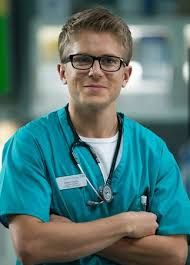 Born: July 1982 ~ George Rainsford is an English actor, best known for his portrayal of Jimmy Wilson in the medical drama Call the Midwife and Ethan Hardy in Casualty. Bbc Casualty, Hospital Tv Shows, Holby City, Call The Midwife, Medical Drama, Bbc One, Drama Series, Gorgeous Men, Mirrored Sunglasses