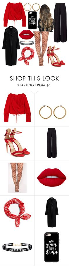 """Date Night💏"" by johanneviinholt ❤ liked on Polyvore featuring Adeam, Vince Camuto, Salvatore Ferragamo, Miss Selfridge, Lime Crime, rag & bone, Marni, LULUS and Casetify"