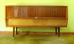 1950s/60s Retro Audio Sideboard / Cabinet | eBay
