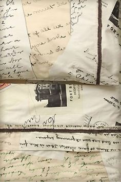 love letter sheets by anthropologie..