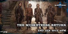 """via BBC One on twitter: """"The boys are back in town for 2015... #TheMusketeers"""" Mark those calenders folks! Jan 2nd, 2015!! Not long now!"""