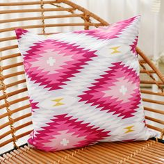 Our pink aztec pillows are perfect for your nursery glider, bay window or armchair. This fun throw pillow is made from our colorful pink aztec nursery fabric. Tribal Bedding, Aztec Pillows, Pink Pillows, Throw Pillows, Black Dining Room Chairs, Accent Chairs For Living Room, Pink Chairs, Beach Chairs, Aztec Nursery
