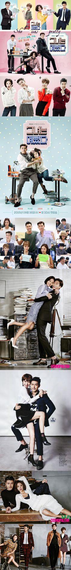 She Was Pretty (그녀는 예뻤다) 2015 kdrama - 16 episodes - Hwang Jung Eum / Park Seo Joon / Go Joon Hee / Choi Si Won