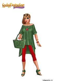 summer green-red look