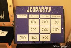 Game Night Party Ideas! Mix of Jeopardy, Minute2winIt, and Family Feud. This looks would be such a fun party to throw... and not too much prep work which I am ALL about!