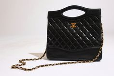 CHANEL 80s classic quilted convertible purse RESERVED. $2,450.00, via Etsy.