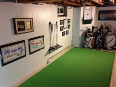 Tutorial on how to build an indoor putting green, great for basements and man caves. You can build an indoor putting green pretty much anywhere, all it takes is a little planning and motivation!