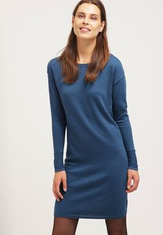 edc by Esprit Strikket kjole - petrol blue - Zalando.no