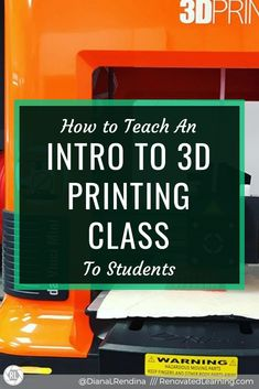How to Teach an Intro to Printing Class When you add a printer to your makerspace, it's good t 3d Printer Designs, 3d Printer Projects, I School, Middle School, Machine 3d, Computer Class, Cad Computer, Stem Curriculum, Good Morning Quotes For Him