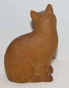 Vintage Wooden Cat Figurine , 5 inches tall    Wooden Cat Figurine , 5 inches tall. It dates from the late 70s.