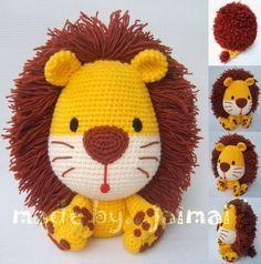 Resultado de imagen de leon amigurumi