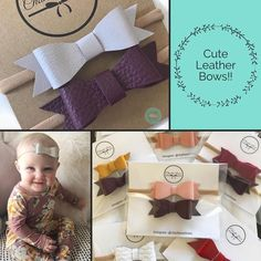 """""""Adorable leather bows from . These bows will complete your baby's outfit! Bows, Cute, Check, Leather, Outfits, Instagram, Arches, Suits, Bowties"""