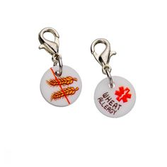 Snap-on these awesome medical and allergy IDs  onto any bracelet, necklace or backpack you already own!