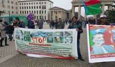 #HumanRightsDay: #Baloch activists protest against #Pakistan in Berlin (Germany)