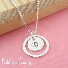 Prolifique Jewelry Initial Pendant Necklace