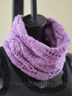 #198 Lazy Weekend Cowl PDF Knitting Pattern #knitting #SweaterBabe.com. One-ball, quick knit pattern!