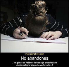 No abandones..