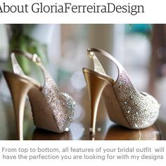 Beautiful shoes, aren't they? I can design tailored #hairaccessories to match your wedding dress and shoes for your big day. I can incorporate fabrics of your preference, #swarovski crystals and pearls all in beautiful tones and colours. Are you thinking in a #hairvine or #hairflowers to embellish your #boho, #classicwedding  or #vintagewedding styles ? contact me and I will be thrilled to help.  #bridalhair  Website: https://www.etsy.com/uk/shop/GloriaFerreiraDesign?ref=hdr_shop_menu