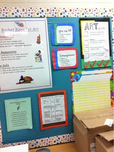 Art With Mrs. J Art Room Rules, Classroom Setup, Going Back To School, Organization, Crystals, Getting Organized, Organisation, Tejidos, Crystal