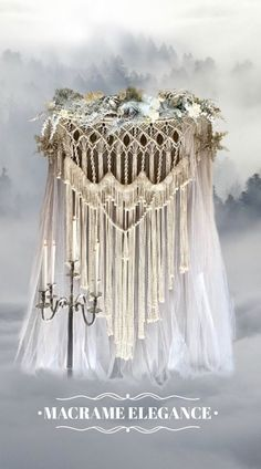 Macrame Elegance is site to macrame artist Lucy Lanuza in Napa, California. She creates fabulous and unique macrame wall hangings and wedding backdrops for sale or rental for your home, business, wedding or events. Low Cost Wedding, Chic Wedding, Magical Wedding, Woodland Wedding, Wedding Video Songs, Backdrops For Sale, Wedding Bands, Wedding Flowers, Wedding Stuff