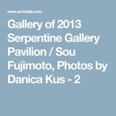 Gallery of 2013 Serpentine Gallery Pavilion / Sou Fujimoto, Photos by Danica Kus - 2