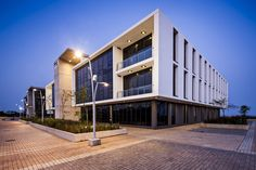 Umhlanga Business Centre by Night Business Centre, Master Plan, Commercial Design, Atrium, Contemporary Architecture, The Expanse, Mansions, House Styles, Architects