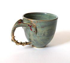 Green jade coffee mug organic nature inspired by tjCervantesArt
