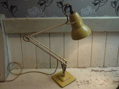 Vintage Herbert Terry Anglepoise Lamp - Vintage Anglepoise - Anglepoise Lamp - Vintage Lighting - Herbert Terry 1227 Lamp - Industrial Lamp by VintiqueTree on Etsy Industrial Lighting, Vintage Lighting, Desk Lamp, Table Lamp, Anglepoise Lamp, Vintage Bra, Cream Paint, Paint Finishes, Makers Mark