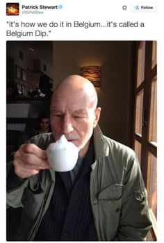 Patrick Stewart tweets are Funny and Awesome #PatrickStewart