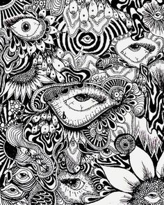 Wonderful Absolutely Free Thoughts For your decision to an Aesthetic-Plastic Surgery or alleged cosmetic surgery, there are many, speci Psychedelic Drawings, Trippy Drawings, Art Drawings, Art Minimaliste, Psychadelic Art, Trippy Painting, Hippie Art, Dope Art, Weird Art