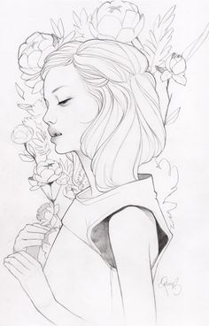 Little Lives, an art print by Kelsey Beckett. I really love her illustrations without colour, so good!