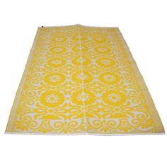 LEF collections Vloerkleed/ buitenkleed plastic geel 120x180cm of 180x270 - wonenmetlef.nl €32,95