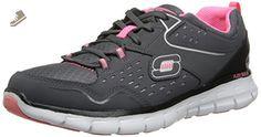 Skechers Sport Women's Front Row Fashion Sneaker,Charcoal/Black,7.5 M US - Skechers sneakers for women (*Amazon Partner-Link)