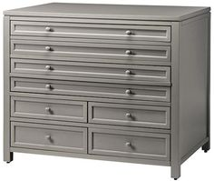 Martha Stewart for Home Decorators Craft Space Eight-Drawer Flat-File Cabin