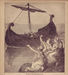 Stories of Sirens are common among sailors. They are said to be beautiful women who sing songs that lour ships too close to shore causing them to run aground.