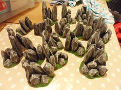 wargame table scenery rock desert - Cerca con Google