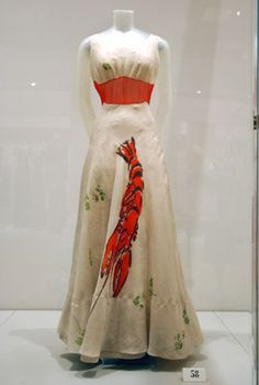 "The famous Schiaparelli ""Lobster"" dress"