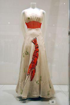 "The famous Schiaparelli ""Lobster"" dress"