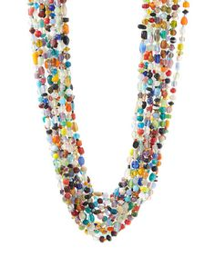 Another great find on #zulily! Blue & Red Pebble Layered Necklace by Pavcus Designs #zulilyfinds