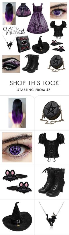 """Witch Lolita"" by galacticpeanut ❤ liked on Polyvore featuring Bibi and Amanda Rose Collection"
