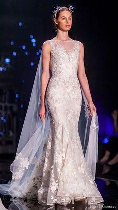 lusan mandongus bridal 2017 sleeveless bateau neck trumpet wedding dress (epsilon) sv cape train -- Lusan Mandongus 2017 Wedding Dresses