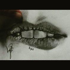 #drawing #pencil #art #lips #mouth #teeth