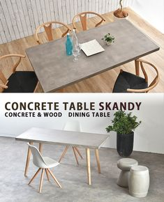 Concrete Table, Concrete Wood, Dining Room, Dining Table, Table Furniture, Creativity, Home Decor, Life, Products