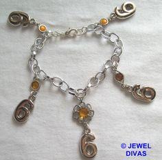 LUCKY NUMBER 6 - $7.50 - www.madeit.com.au/JewelDivas